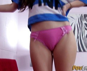 Teen jizzed over from pov
