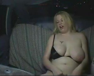 Very Horny Hympho obese Chubby GF masturbating in Taxi