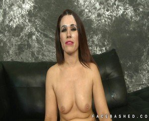 Cute Crystal Rain bruallty mouth fucked