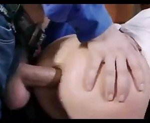 Hot ass blonde gets assfucked and creamed