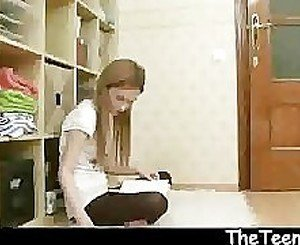 Creampie with skinny teen Julia
