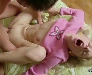 Sister get her First Fuck with Anal Creampie by her Step-Bro