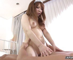 Asian maid services her masters hard pipe