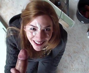 Young German Amateur Quick Blowjob And Fac