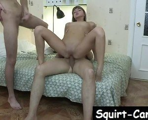 Hot Teen fucked by Two Boys