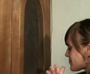 Sinning Teen Does Her Pennance !