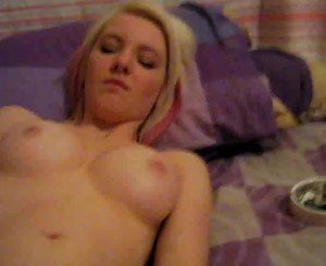 Hot Blonde Teen Fingered
