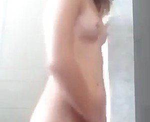 Cute teen playing