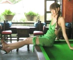 Yuriko Shiratori - green dress
