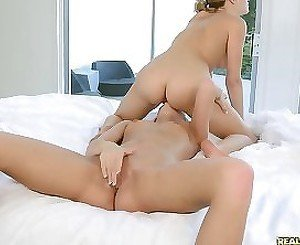 Serious lesbian porn play along two needy young babes