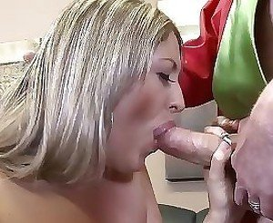Young beauty bloes and gets licked in serious modes