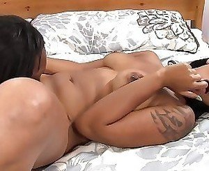 Harsh lesbian play with two naughty ebony dolls