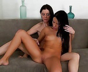 Dark-haired perverts are enjoying intensive fingering