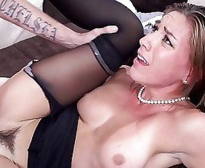 Lusty slut screams during the insane penetration action