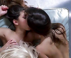 Three luxury bitches fucking their pussies with playful fingers