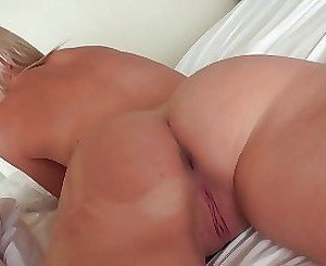 Seduced blonde hardly penetrated in doggy style