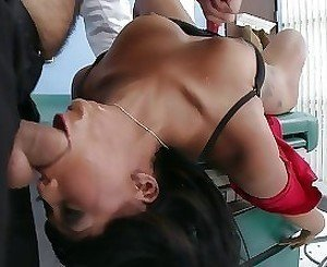 Lusty exotic brunette gets fucked by her big-dicked doctor