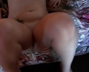Slightly chubby chick gets to suck that big thick dick