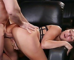 Dirty young hooker nailed in a tight cunt